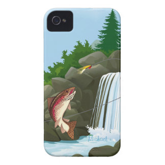 Fisherman Trout Fly Fishing Case-Mate iPhone 4 Cases