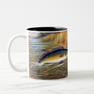 Fisherman's Coffee Mug - Black Bass