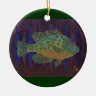 Fisherman's Delight Round Ceramic Decoration