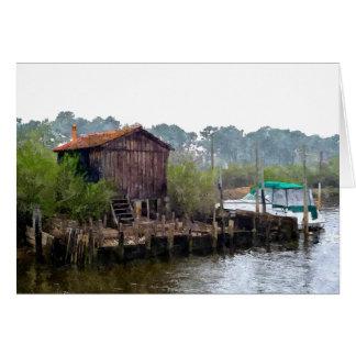 """""""Fisherman's Hut"""" Card"""
