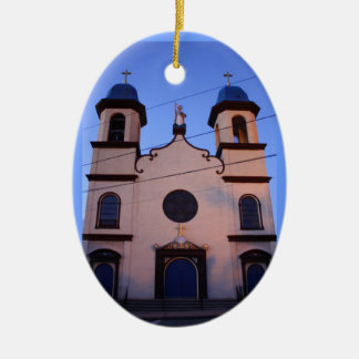 Fisherman's Memorial Double-Sided Oval Ceramic Christmas Ornament