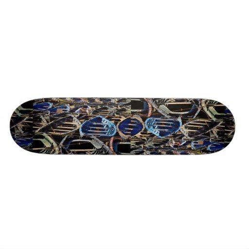 Fisherman's parking lot custom skate board