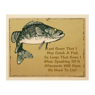 Fishermans Prayer Wood Print