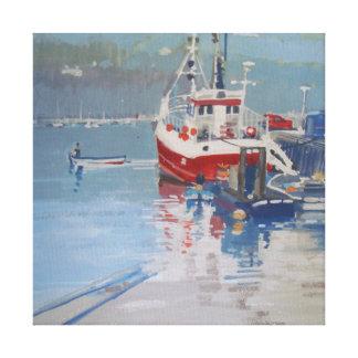 Fisherman's Quay Salcombe Canvas Print