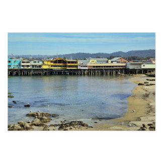 Fisherman's Wharf in Monterey California Poster