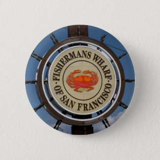 Fisherman's Wharf Sign 6 Cm Round Badge