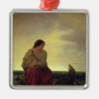 Fisherman's Wife Mourning on the Beach Christmas Ornament