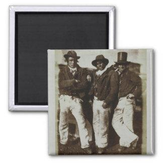 Fishermen Ashore, c.1843-47 (salt paper print from Square Magnet