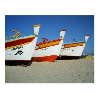 Fishermen boats in Algarve Postcard