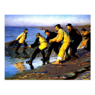 Fishermen Hauling the Net on Skagen's North Beach Postcard