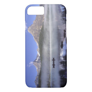 Fishermen in canoe on Waterfowl Lake, Banff iPhone 8/7 Case