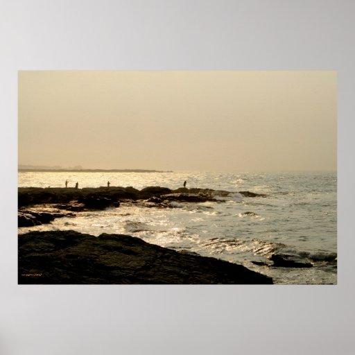 Fishermen in Newport photography poster