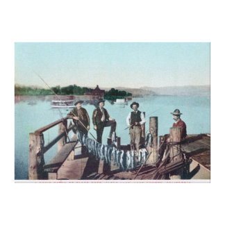 Fishermen Showing the Day s Catch Canvas Print