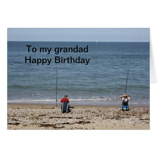Fishermen To my grandad Happy Birthday Card