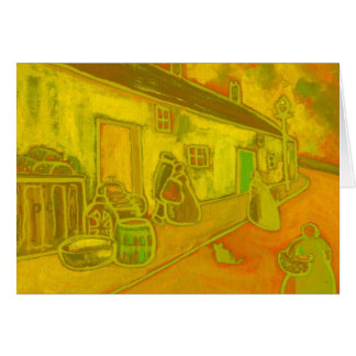 FISHERMENS COTTAGES GREETING CARD