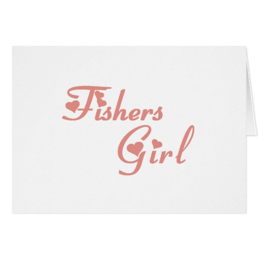 Fishers Girl tee shirts Card