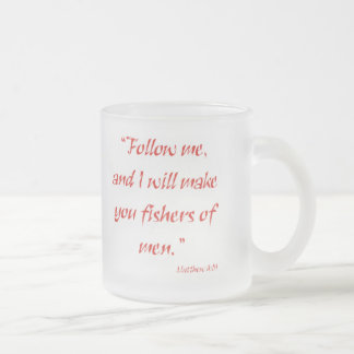 Fishers of Men Frosted Glass Mug