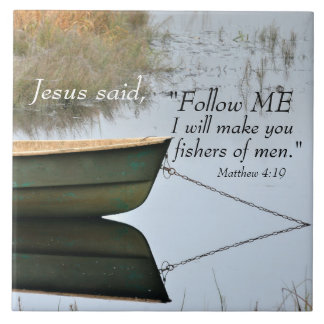 Fishers of Men Scripture Ceramic Tile