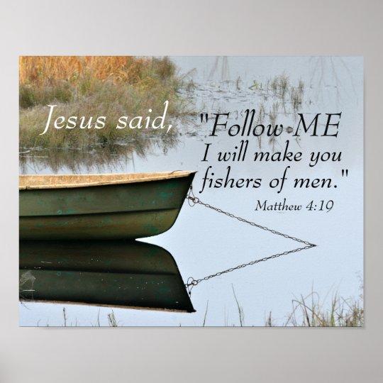 Fishers of Men Scripture, Matthew 4:19 Bible Verse