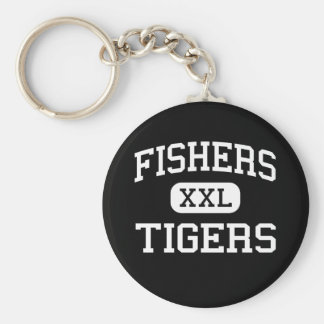 Fishers - Tigers - High School - Fishers Indiana Key Ring