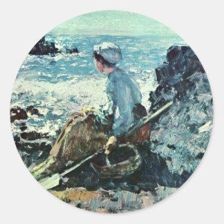 Fisherwoman From Granville By Grigorescu Nicolae Stickers