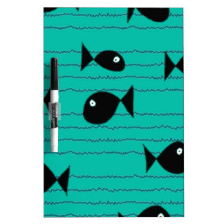 Fishes and reeds dry erase board