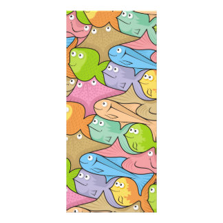 Fishes cartoon rack card design