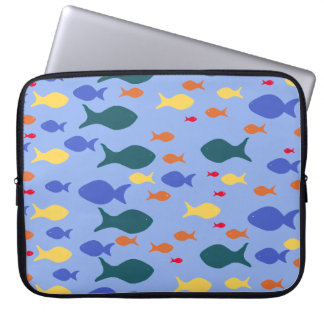 Fishes Colorful fish Neoprene Laptop Sleeve 15""