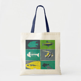 Fishes illustration tote bag