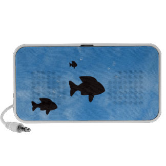 Fishes in the Deep Blue Sea Doodle Speakers