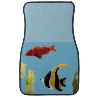 Fishes in the Sea Art Car Mat