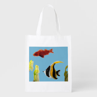 Fishes in the Sea Art Reusable Grocery Bag