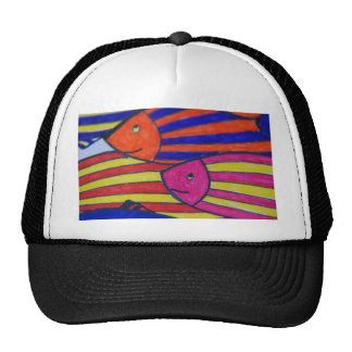 fishes mesh hat