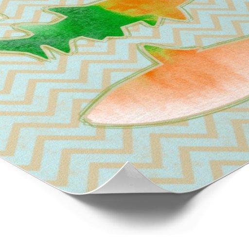 Fishes on zigzag chevron - mono print
