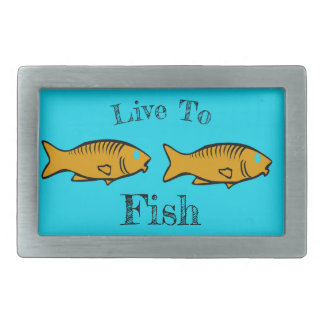 fishes swimming belt buckles
