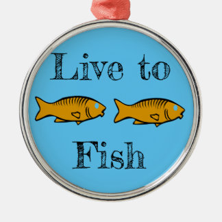 fishes swimming christmas ornament