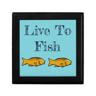 fishes swimming gift box