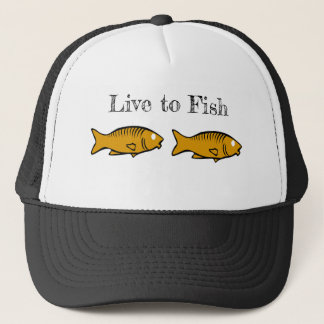 fishes swimming trucker hat