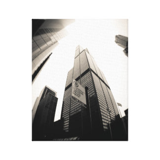 Fisheye Willis (or Sears) Tower Gallery Wrapped Canvas