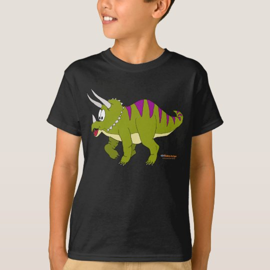 Fishfry Designs Dark Triceratops T-Shirt