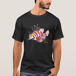Fishfry Designs Lionfish Uni-sex Front logo Tshirt