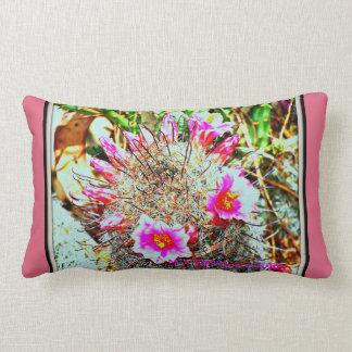 Fishhook Cactus in Bloom Lumbar Pillow