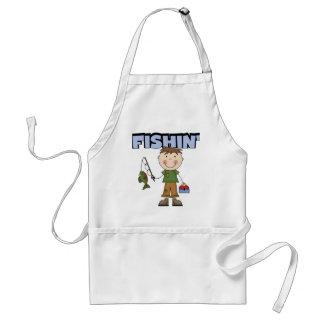 Fishin' Boy Tshirts and Gifts Standard Apron