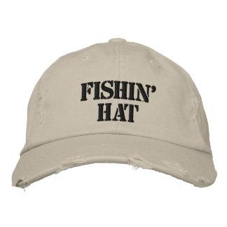 Fishin' Hat Embroidered Baseball Cap