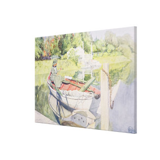 Fishing, 1909 gallery wrap canvas