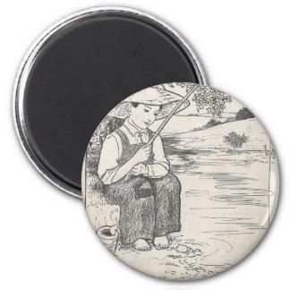 Fishing 6 Cm Round Magnet