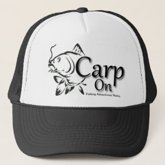 Fishing Adventures Wales Carp on Baseball Cap