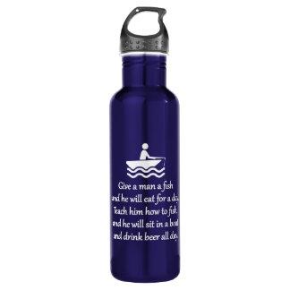 Fishing and Beer - Sarcastic Zen Phrase 710 Ml Water Bottle