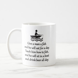 Fishing and Beer - Sarcastic Zen Phrase Coffee Mug
