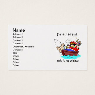 fishing and retirement business card